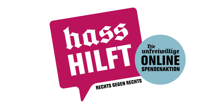 Logo unseres Partners Hass hilft