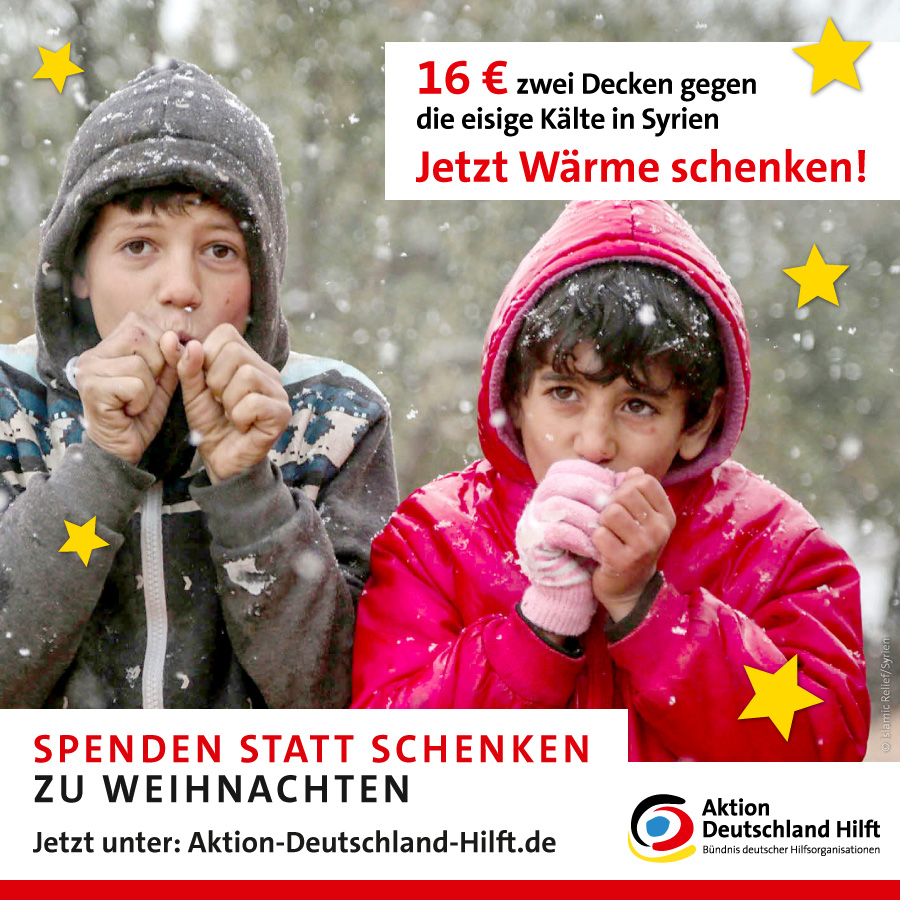 eine spende ist das sch nste aktion deutschland hilft. Black Bedroom Furniture Sets. Home Design Ideas