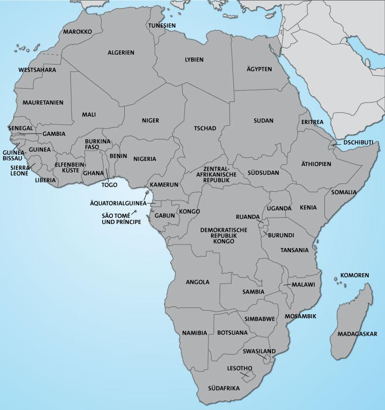 Afrika Karte Staaten.Afrika Staaten Karte