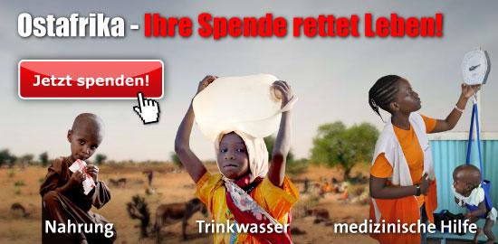 Hunger & Dürre in Ostafrika. Spenden Sie jetzt