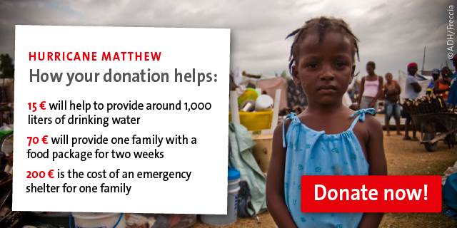 Hurricane Matthew - How your donation helps
