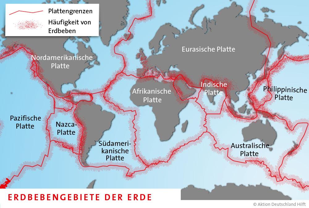 Infografik Plattentektonik: Wie ein... Aktion Deutschland Hilft