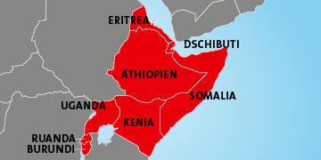 Nothilfe Ostafrika