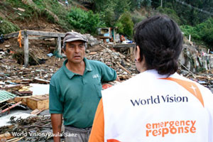 Erdbeben Chile: World Vision in Dichato
